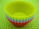 round shape silicone cake mould