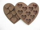 10 caves heart silicone chocolate mould